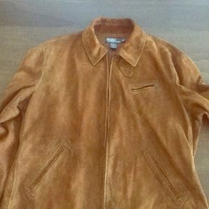 Suede Polo by Ralph Lauren Leather Jacket Size Lg